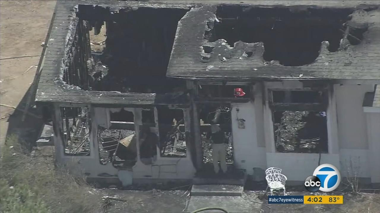 Human remains were found Monday morning after a suspicious fire at a senior-care facility in Temecula, according to the Riverside County Sheriffs Department.