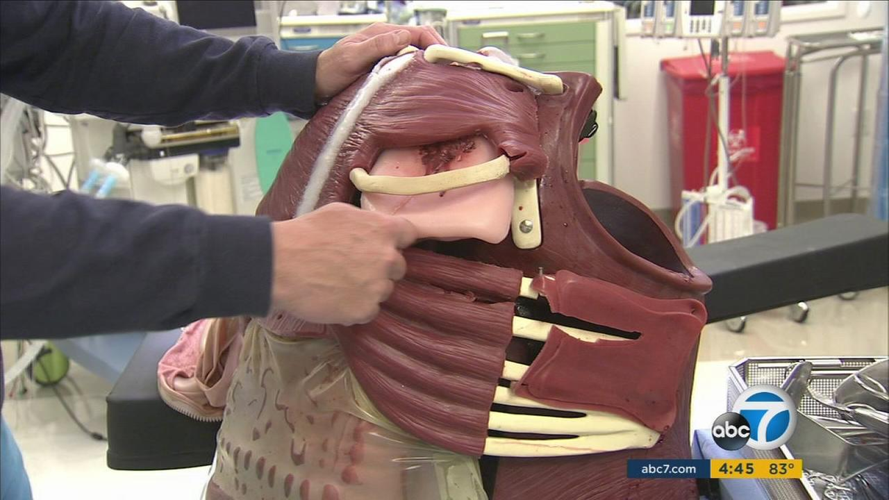 Local doctors in Southern California are working with a new high-tech teaching tool to give young surgeons true-to-life training.