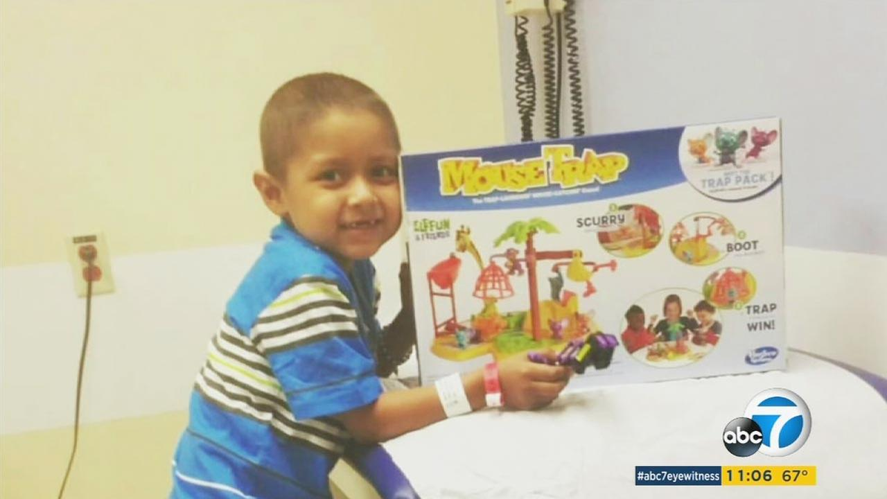 Five-year-old Anthony smiles holding a toy in this undated photo provided by his family.