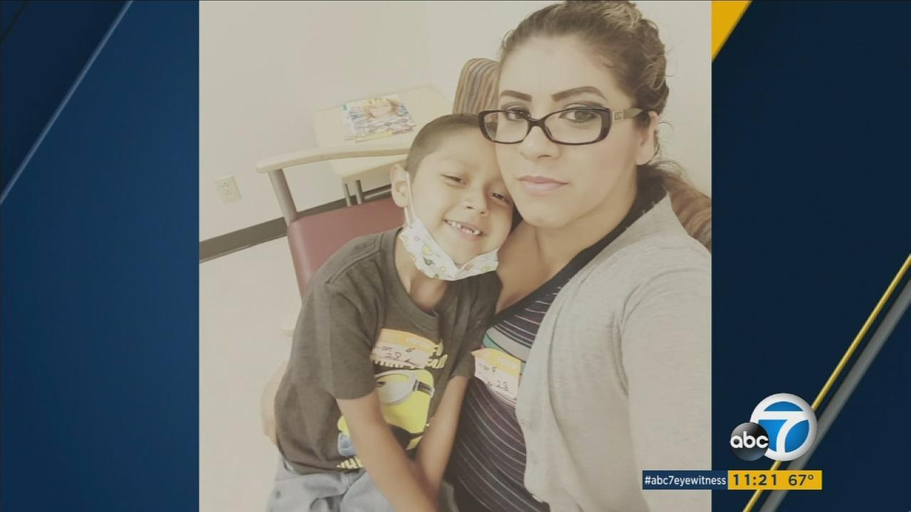 An undated photo of Melissa Alvarez and her son Anthony, who she lost to cancer.