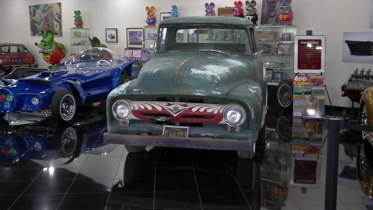 Ed Roth, a staple in Southern California for his iconic work on hot rods, is having his vintage 1956 Ford F-100 restored at Galpin Auto Sport.
