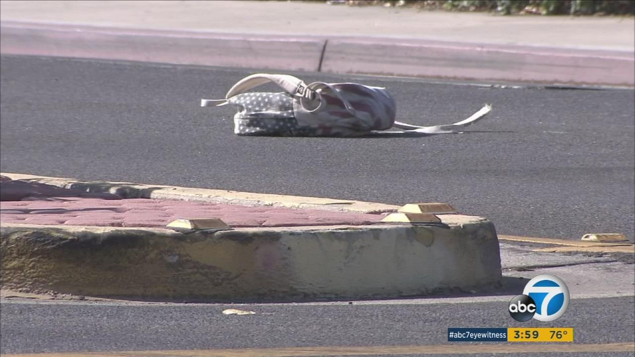 A 14-year-old girl was hit by a car near a Riverside high school on Wednesday, Sept. 7, 2016.