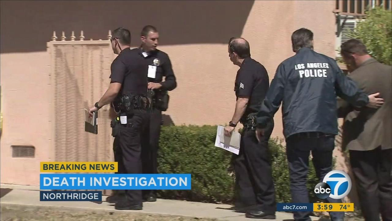 One person died after a stabbing in a residential Northridge neighborhood Thursday afternoon, officials said.