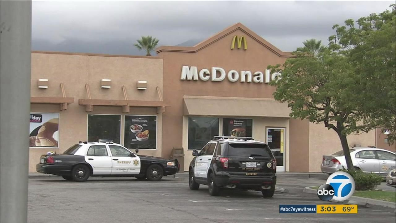 A transient man, who allegedly stole a parking enforcement officers car in Rosemead, died inside a San Gabriel McDonalds following a confrontation with sheriffs deputies.