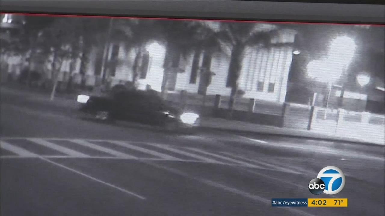 Authorities said surveillance video captured a truck hitting and killing a woman then fleeing the scene in South Los Angeles on Wednesday, Sept. 14, 2016.