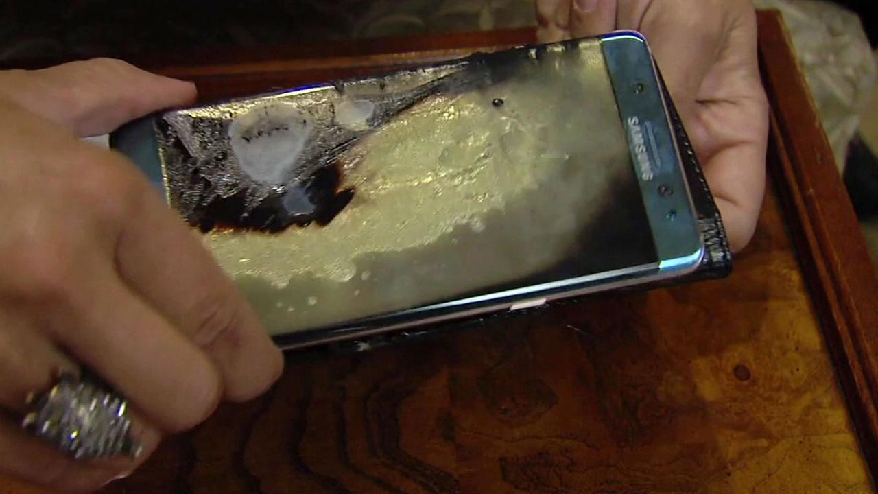 An exploded Samsung phone is shown in an undated photo.