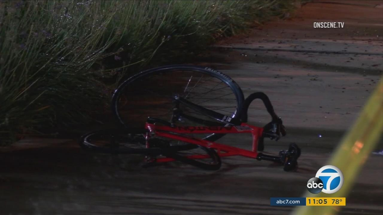 A teenage boy riding his bike suffered critical injuries after being struck by a hit-and-run driver on South Brookhurst Street in Anaheim on Sunday, Sept. 19, 2016.