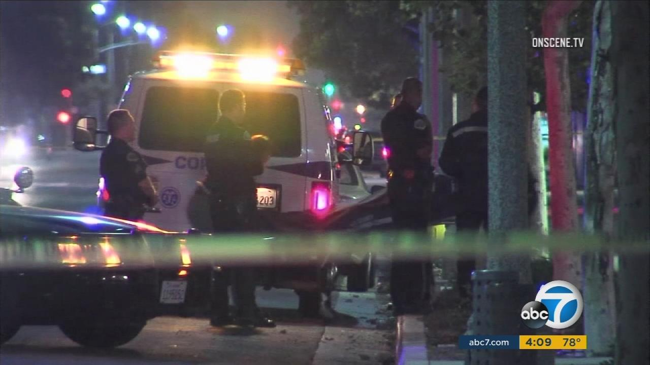 A person in a wheelchair was struck and killed Sunday night by a hit-and-run driver in Pomona, authorities said