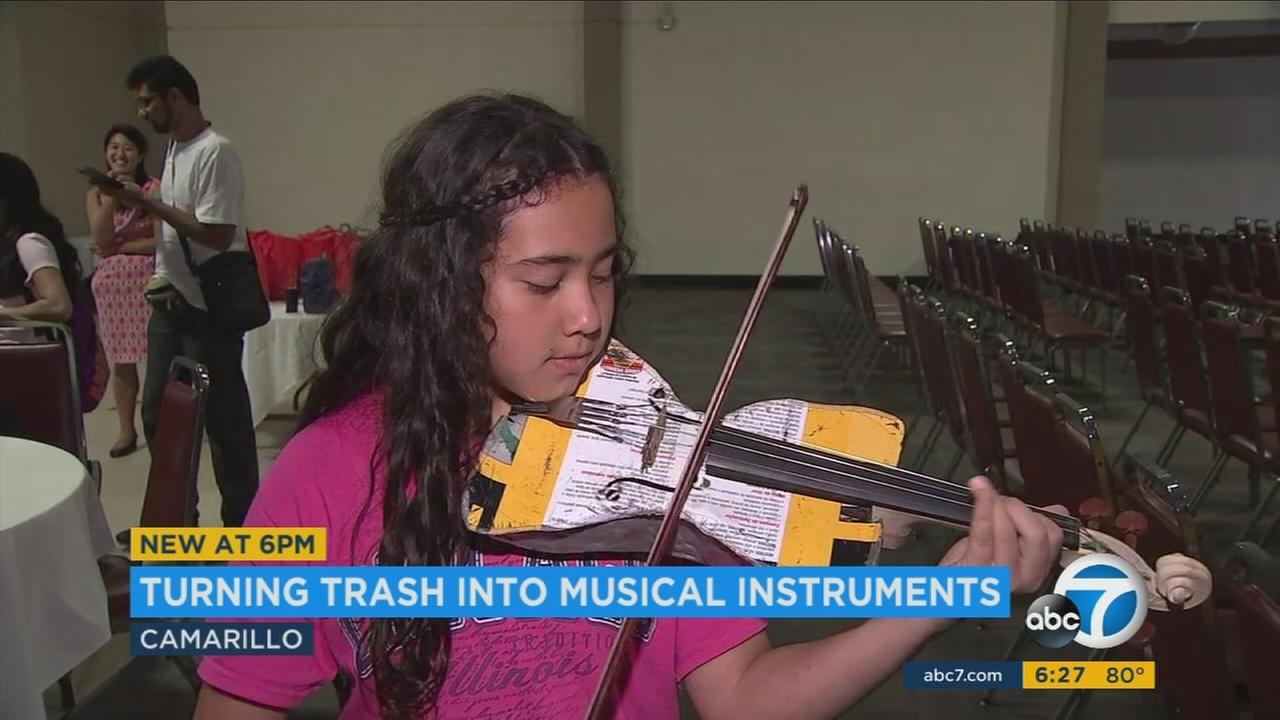 What may look like useless junk to most people has been transformed into something beautiful, thanks to the creativity of some young musicians.