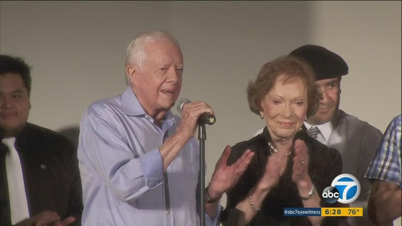 Students from a Panorama City school are traveling to Georgia to interview former First Lady Rosalynn Carter for a documentary they are filming.