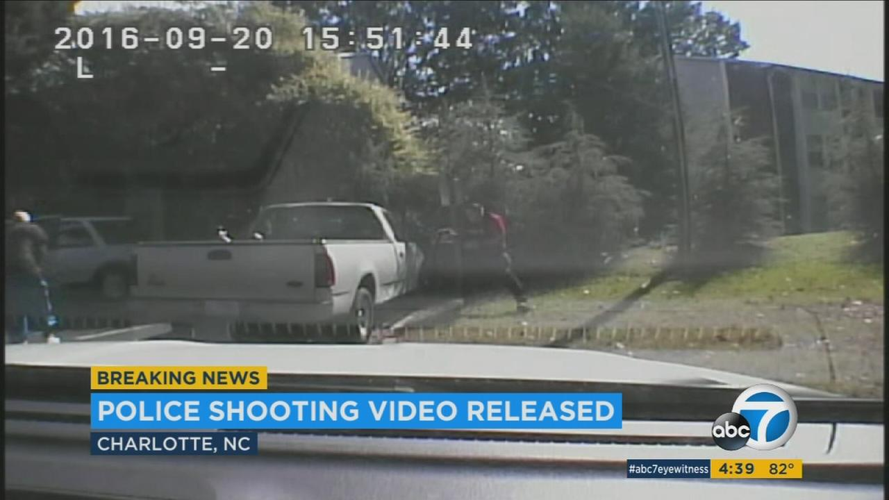 Dashcam video shows the moments when officers fatally shot Keith Lamont Scott in Charlotte, North Carolina.