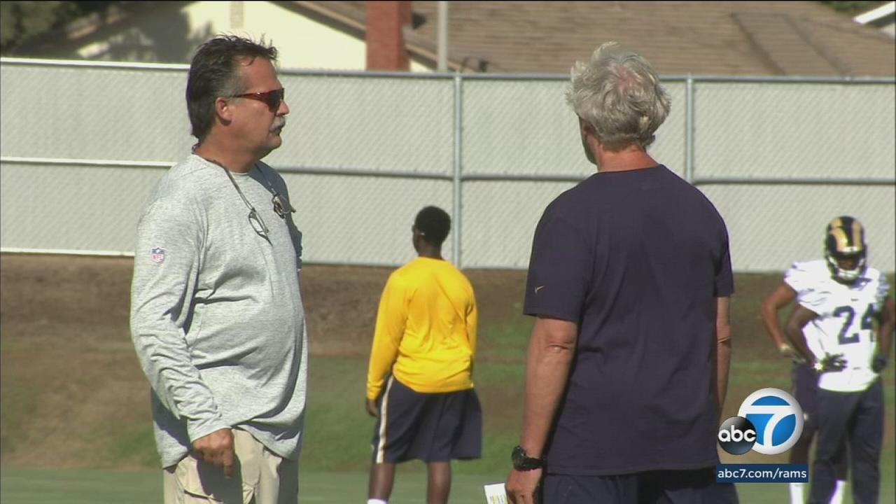 Rams head coach Jeff Fisher attempted to keep his offense loose at practice after it failed to score a touchdown in the first two weeks.