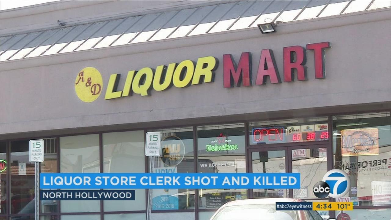 Police are looking for two suspects involved in a deadly robbery at a North Hollywood liquor store over the weekend.