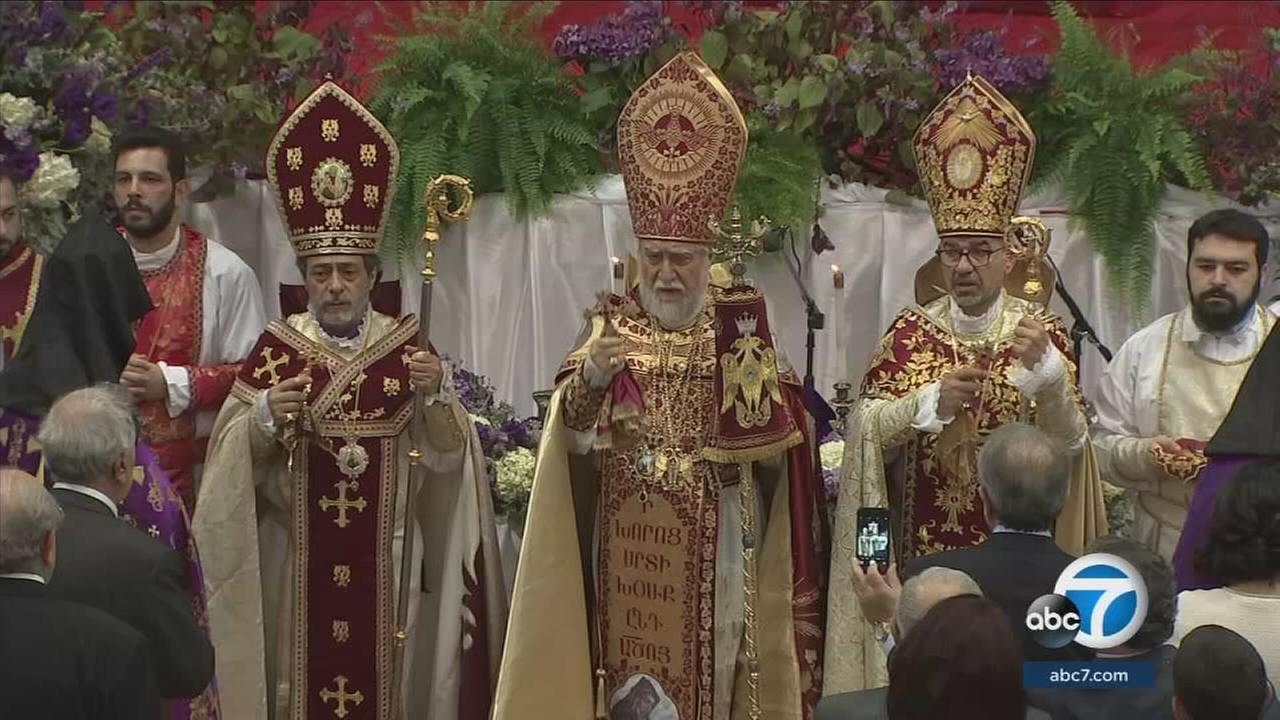 Aram I, the head of Armenian Apostolic Church, visited Southern California to celebrate the 20th anniversary of his consecration.