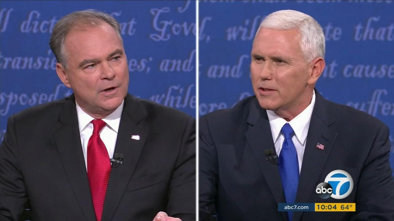Vice-presidential candidates Tim Kaine and Mike Pence sparred for 90 minutes in their first and only debate of the campaign on Tuesday from Farmville, Va.