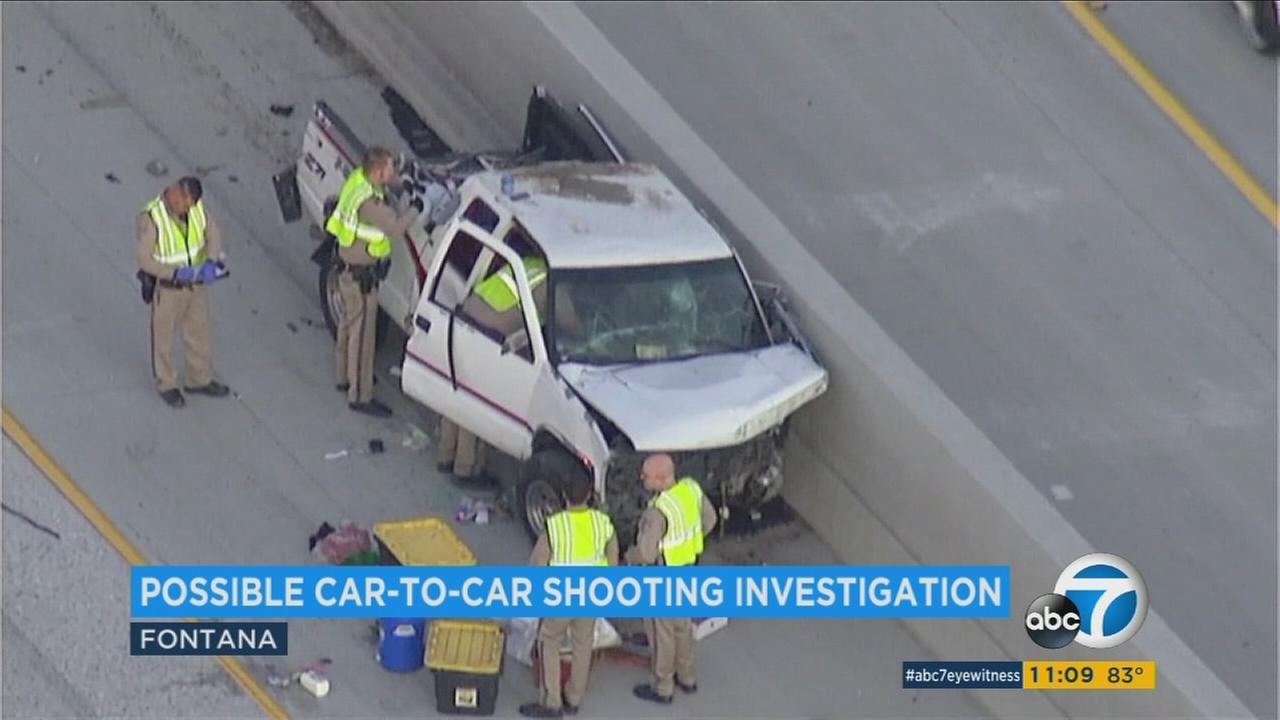 Car Accident  Freeway Fontana