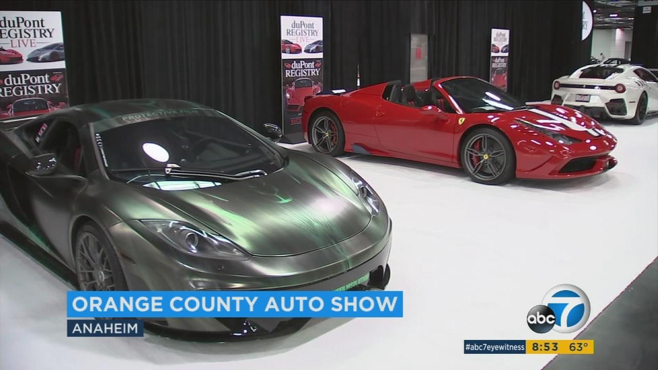 Ferraris at The Orange County International Auto Show.