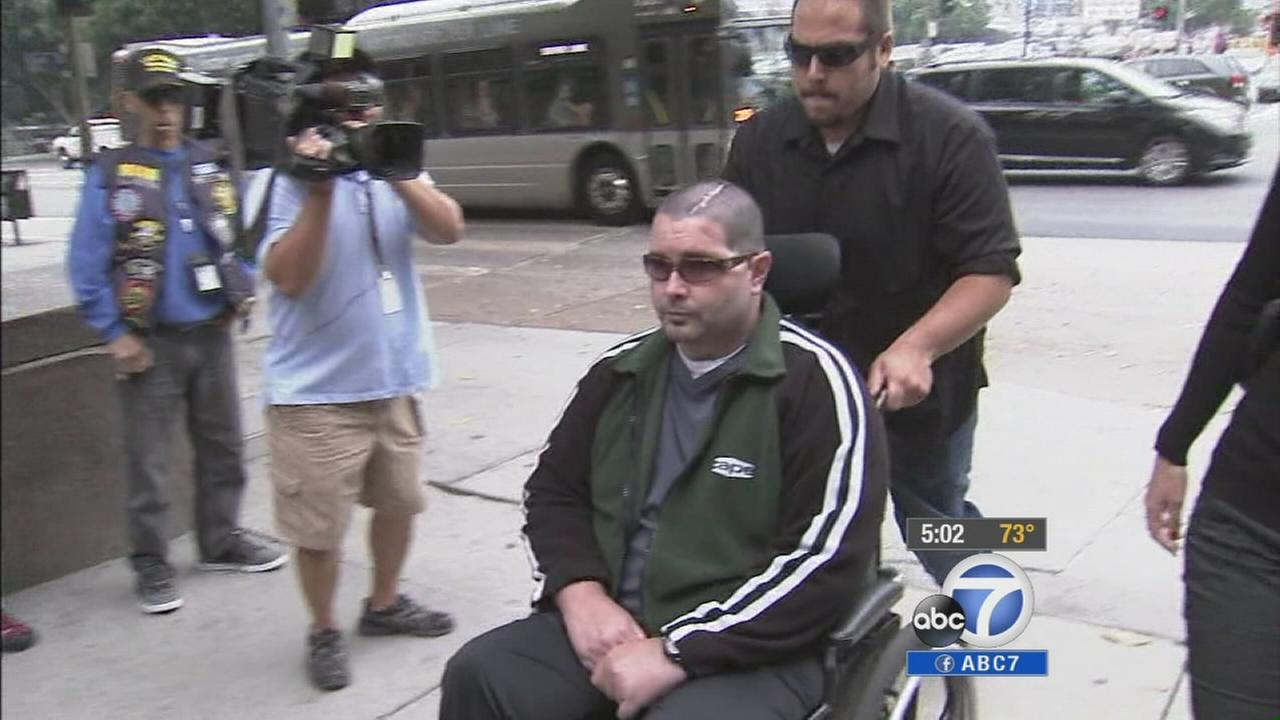 Bryan Stow, the man suing the Dodgers and former owner Frank McCourt over the beating that left him brain damaged, is shown.