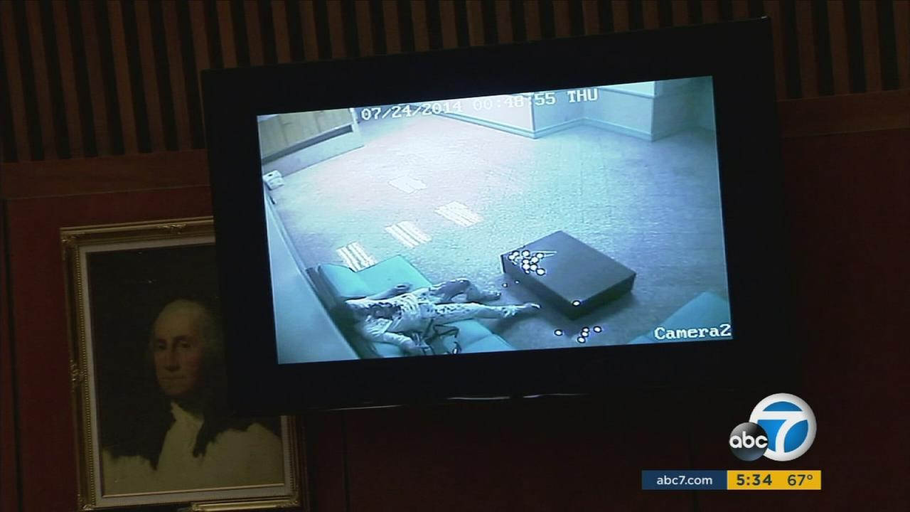 This surveillance image shows USC graduate student Xinran Ji after getting attacked.
