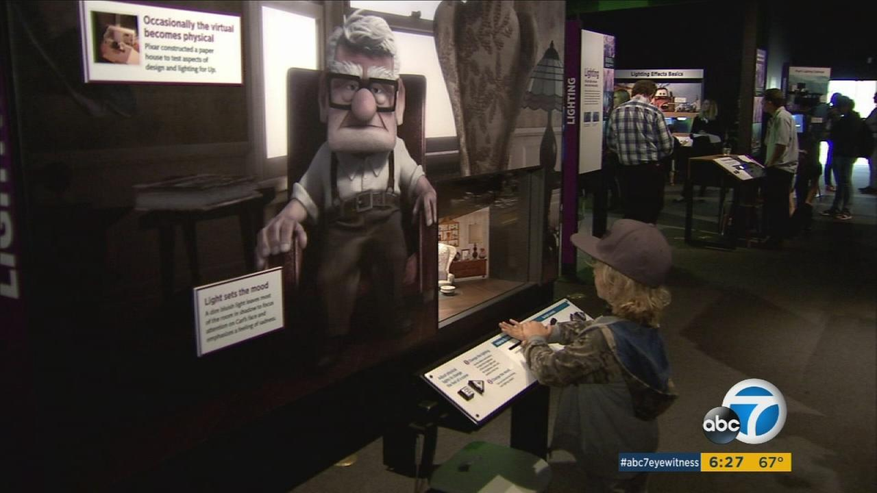 A new exhibit at the California Science Center looks at the filmmaking process that led to Pixar hits like Up.