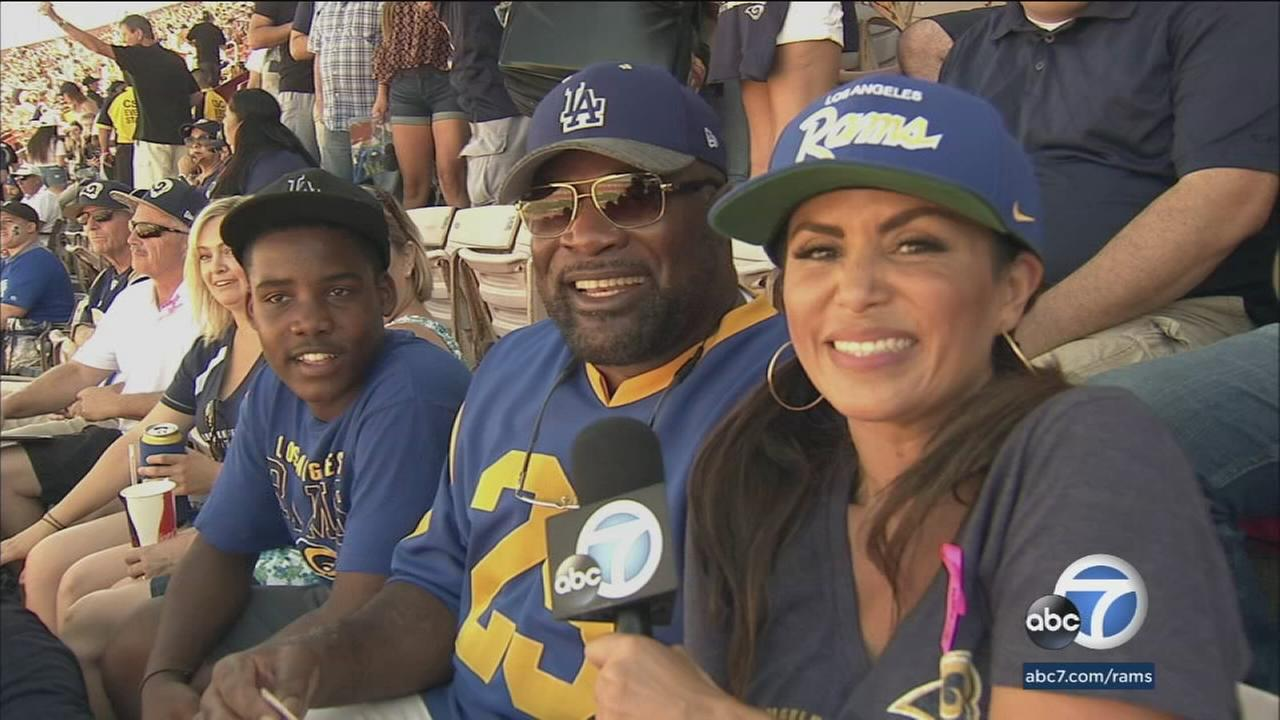 Rams Primetime Saturday helped John Scott Sr. and John Scott Jr. stay cool with 50-yard line tickets in the shade.