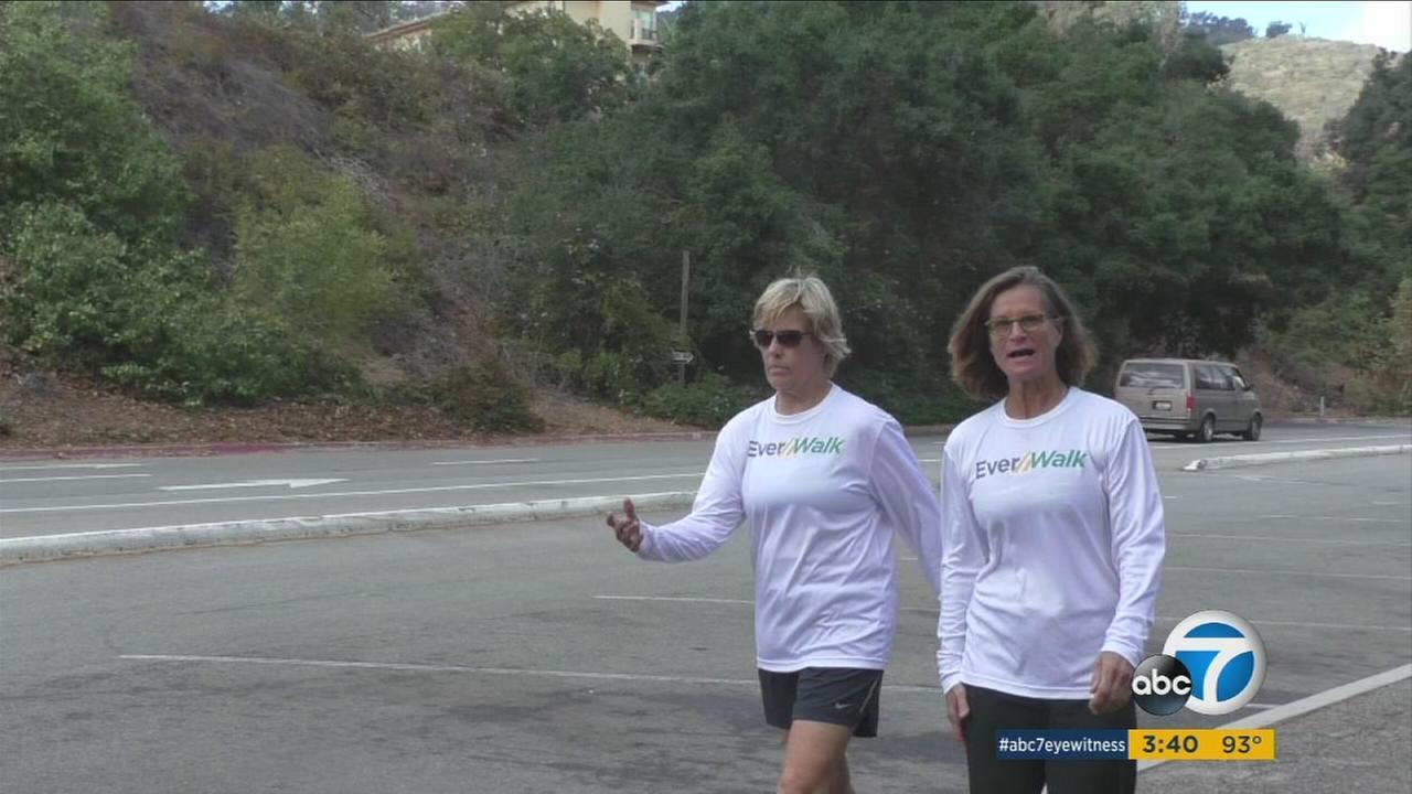 Diana Nyad (left), who swam from Cuba to Florida at age 64 in 2014, and trainer Bonnie Stoll are launching a new walking initiative designed to boost the health of kids and all Americans.