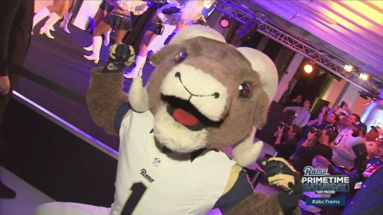 Rampage the Los Angeles Rams mascot is shown in London during an event on Saturday, Oct. 22, 2016.