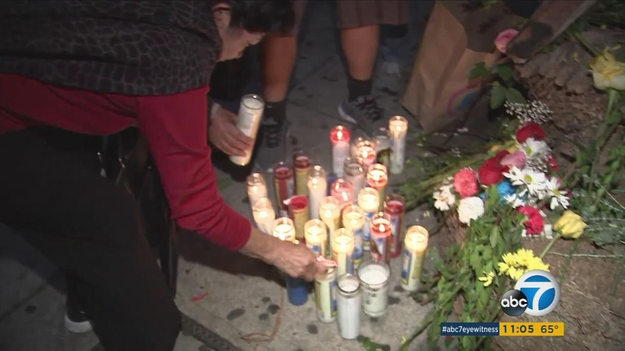 Friends of people who died in the Palm Springs tour-bus crash gathered to mourn the victims in Koreatown, where the bus was supposed to arrive on its return to Los Angeles.