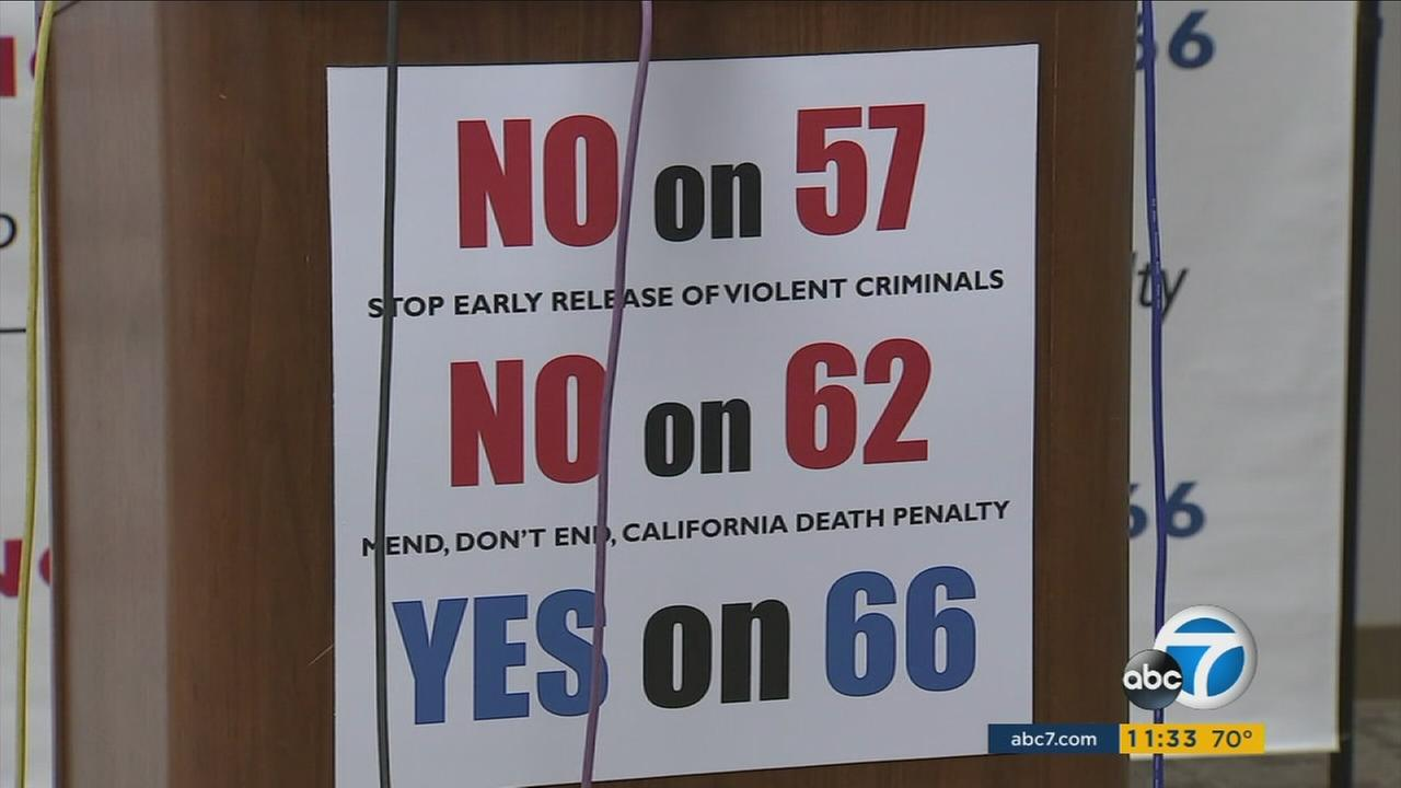 Los Angeles County Sheriff Jim McDonnell stated his opposition to Proposition 57 and 62, and his backing of Proposition 66.
