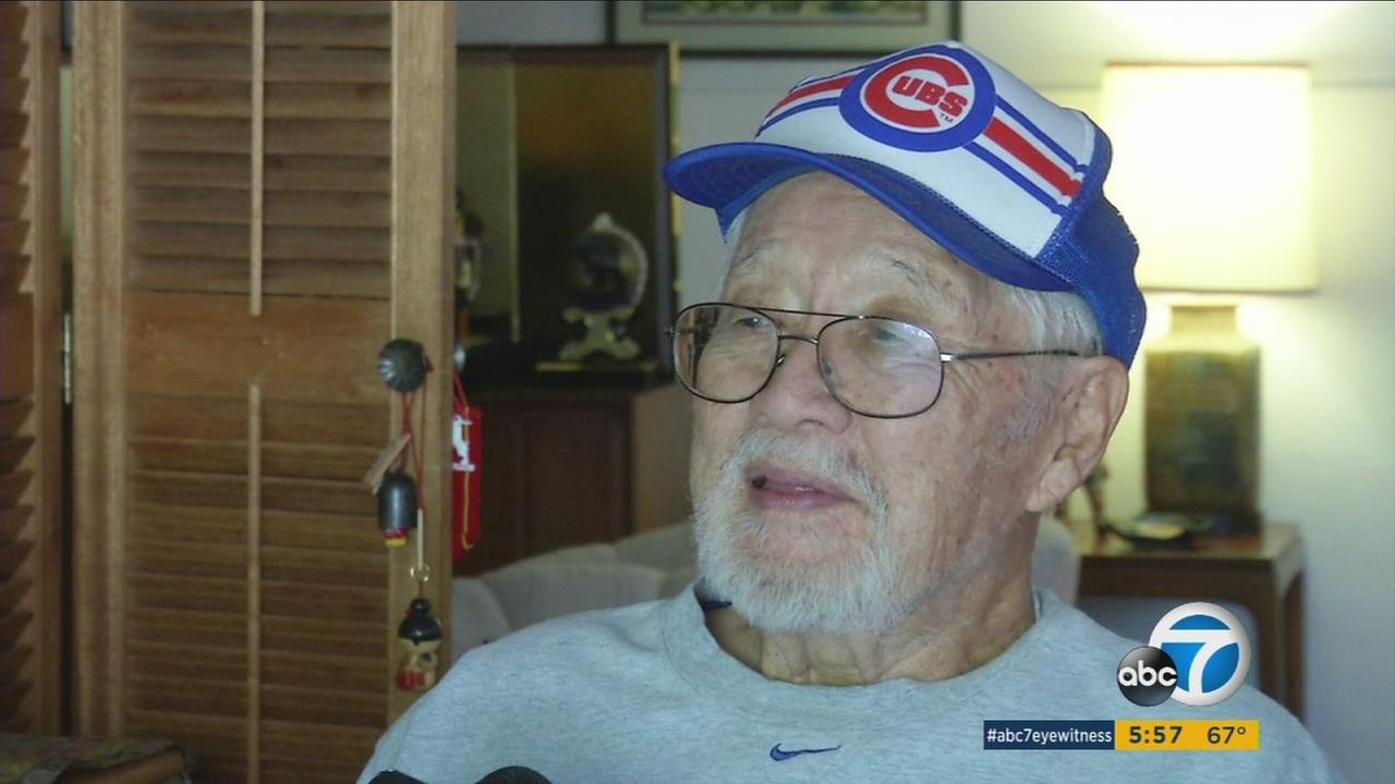 92-year-old veteran Calvin Tajima remains an unashamed Chicago Cubs fan, after falling in love with Chicago during World War II.