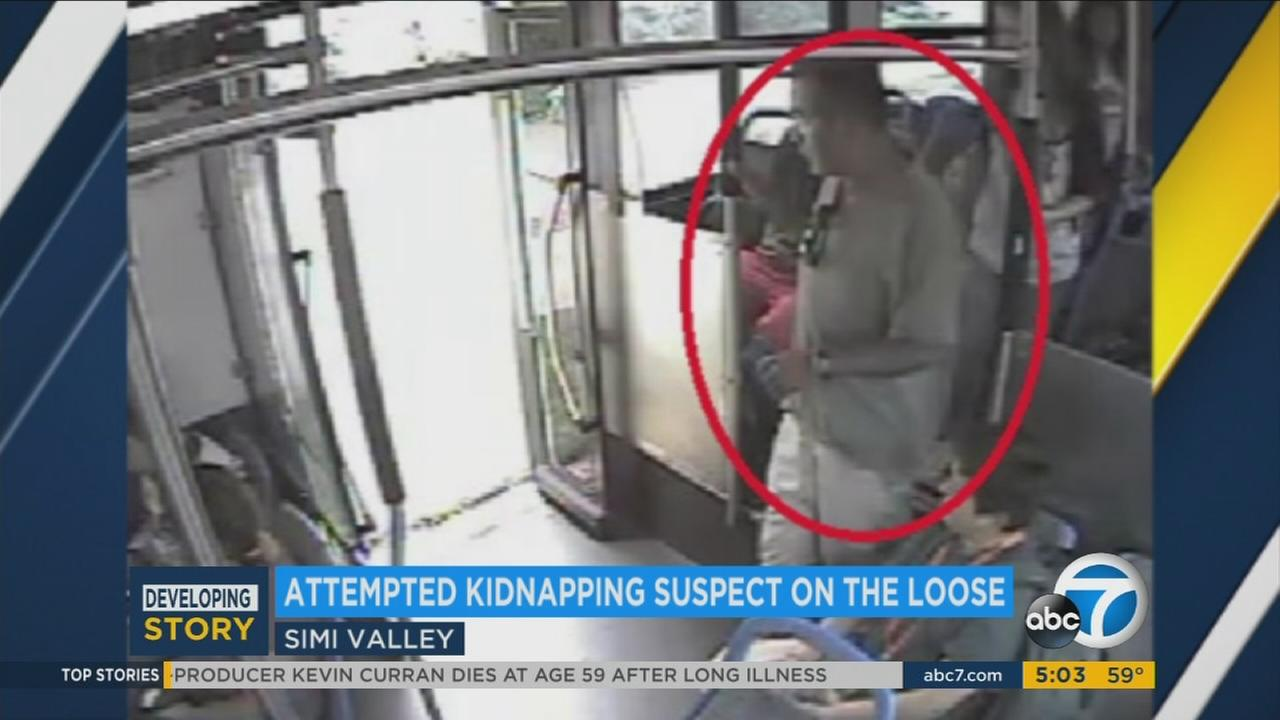 A surveillance photo released by Simi Valley police shows a man being sought in the attempted kidnapping of a 13-year-old girl on Monday, Oct. 24, 2016.