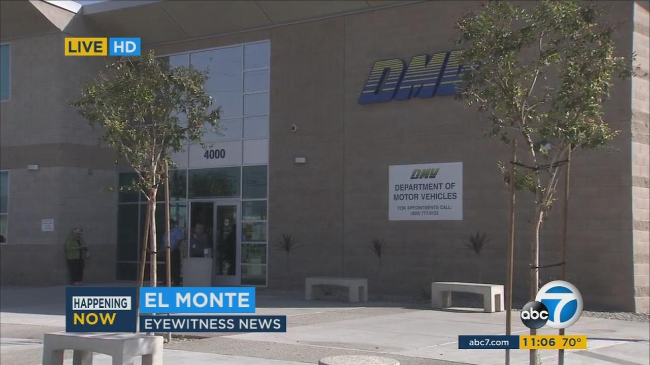 The DMV office in El Monte is seen Wednesday, Oct. 26, 2016.