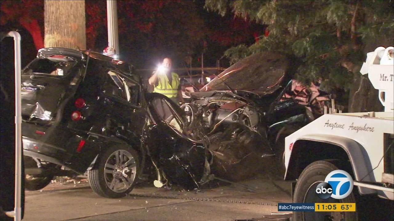 One person died in an Upland crash that police say may have been caused by street racing.