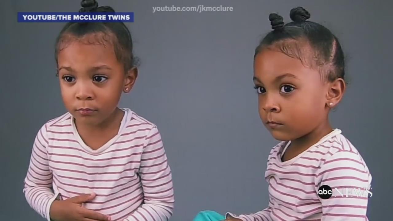 Alexis and Ava McClur eare seen in a video posted by their parents to YouTube.