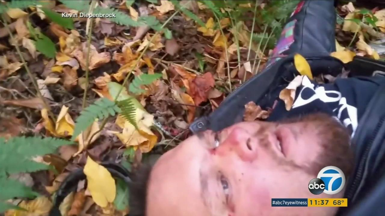 A Louisiana motorcyclist who crashed and thought he was going to die spent a harrowing 30 hours trapped at the bottom of a ravine and recorded his goodbyes to loved ones on video.