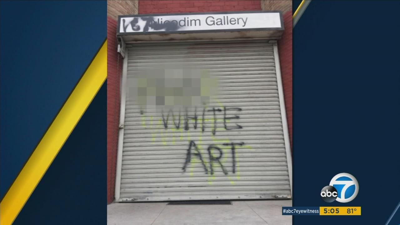 Los Angeles police said theyre investigating a string of attacks on art galleries in Boyle Heights as hate crimes.