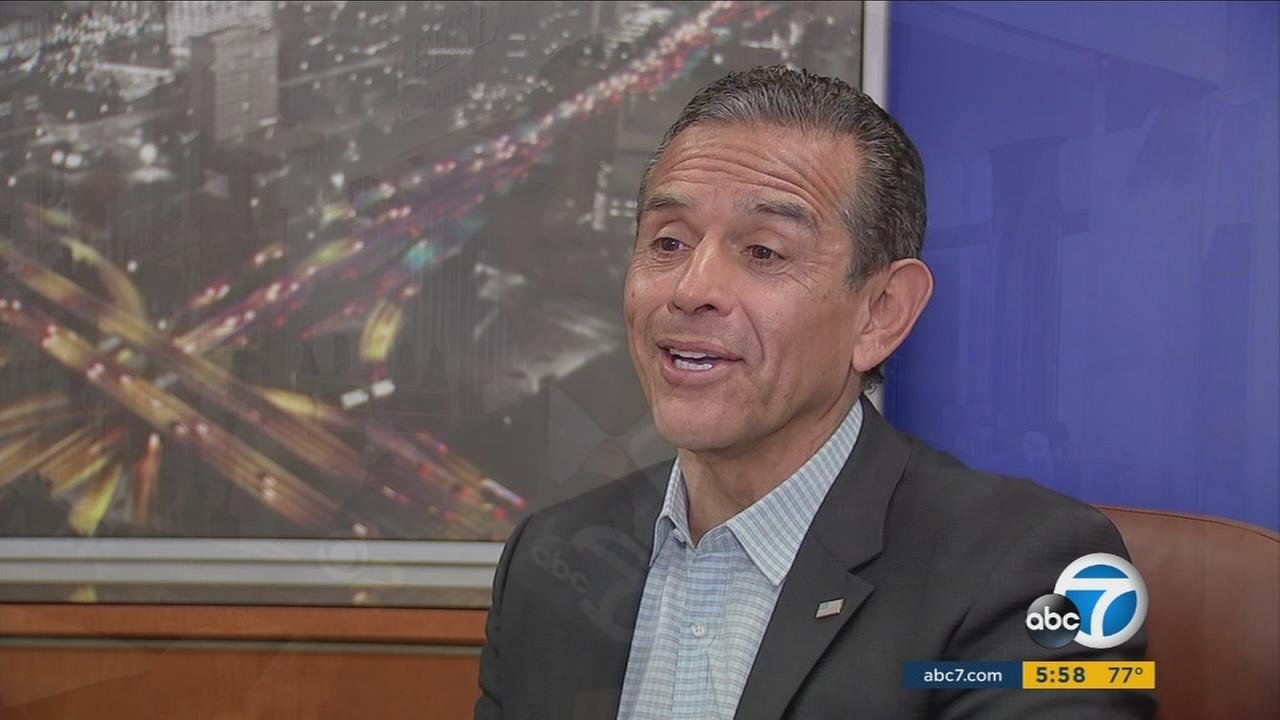 Former Los Angeles Mayor Antonio Villaraigosa speaks to Eyewitness News.