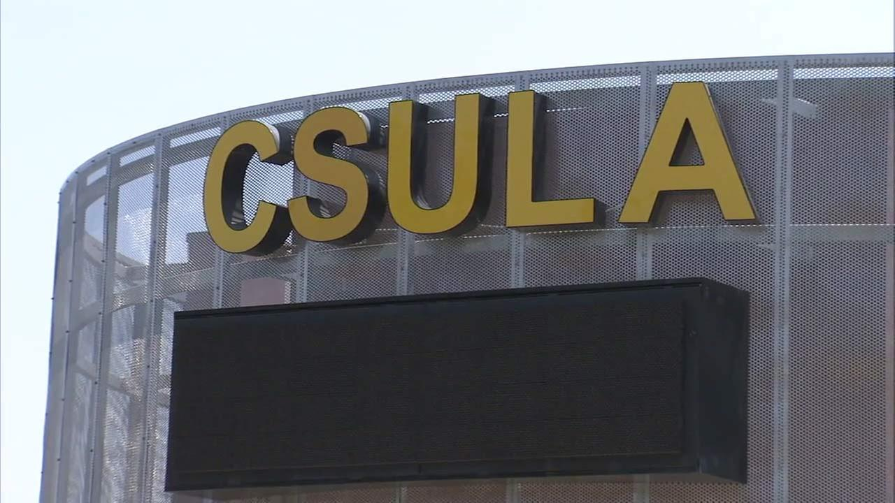 A sign for California State University Los Angeles is seen in this undated file photo.