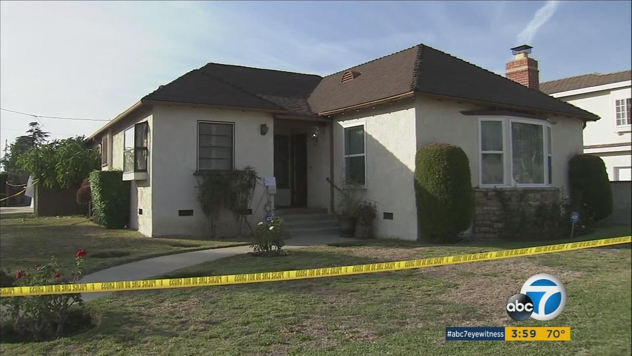 A womans body was found inside this home on Euclid Avenue in San Gabriel on Wednesday, Nov. 23, 2016.