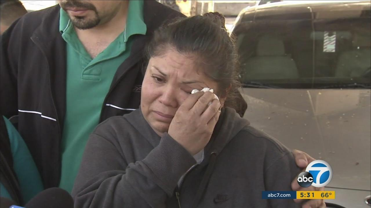 A woman is crying as she pleads with the public to help find the person responsible for a deadly shooting in Compton.