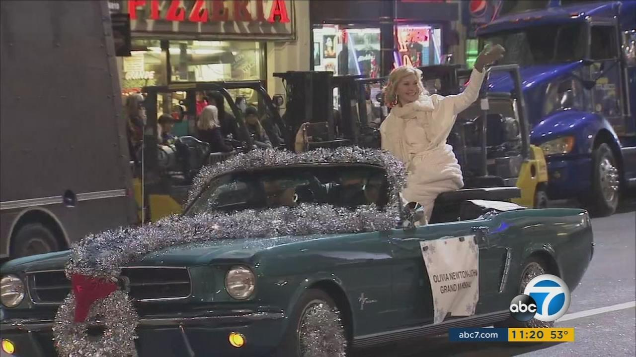 It was a big day in Hollywood on Sunday for whats billed as the largest Christmas event in America.