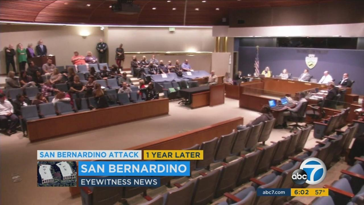 Survivors of the 2015 San Bernardino terror attack pleaded with the county Board of Supervisors to continue their benefits.