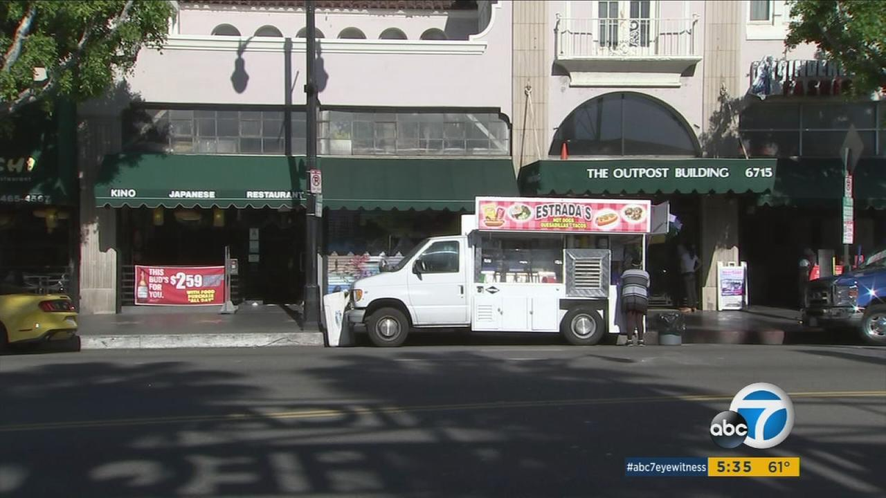 Several business owners have complained about the prevalence of food trucks parked along Hollywood Boulevard, which are allegedly having an adverse on nearby shops and eateries.