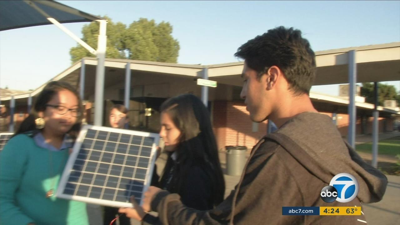 This weeks ABC7 Cool Kid is Armando Godoy-Velasquez, who teaches middle schoolers how to work with solar panels in Pico Rivera.