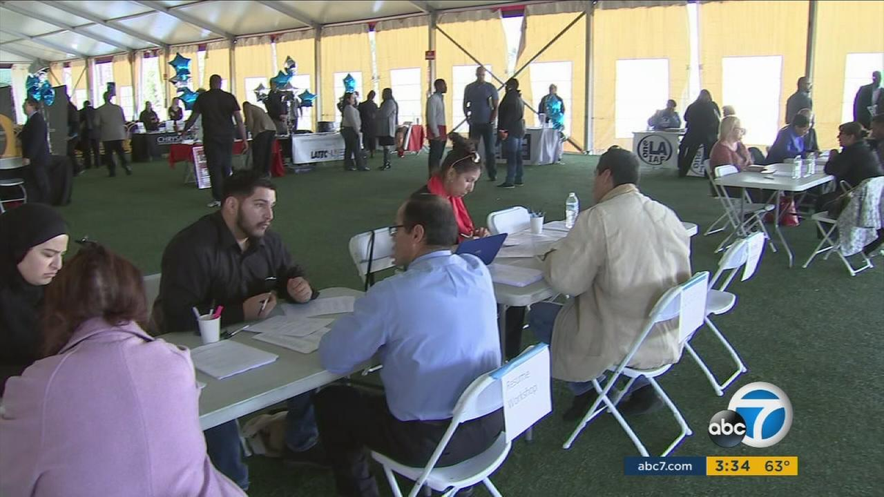 A job fair sponsored by the city of Los Angeles helped to match those with criminal records to employers willing to give them a second chance.