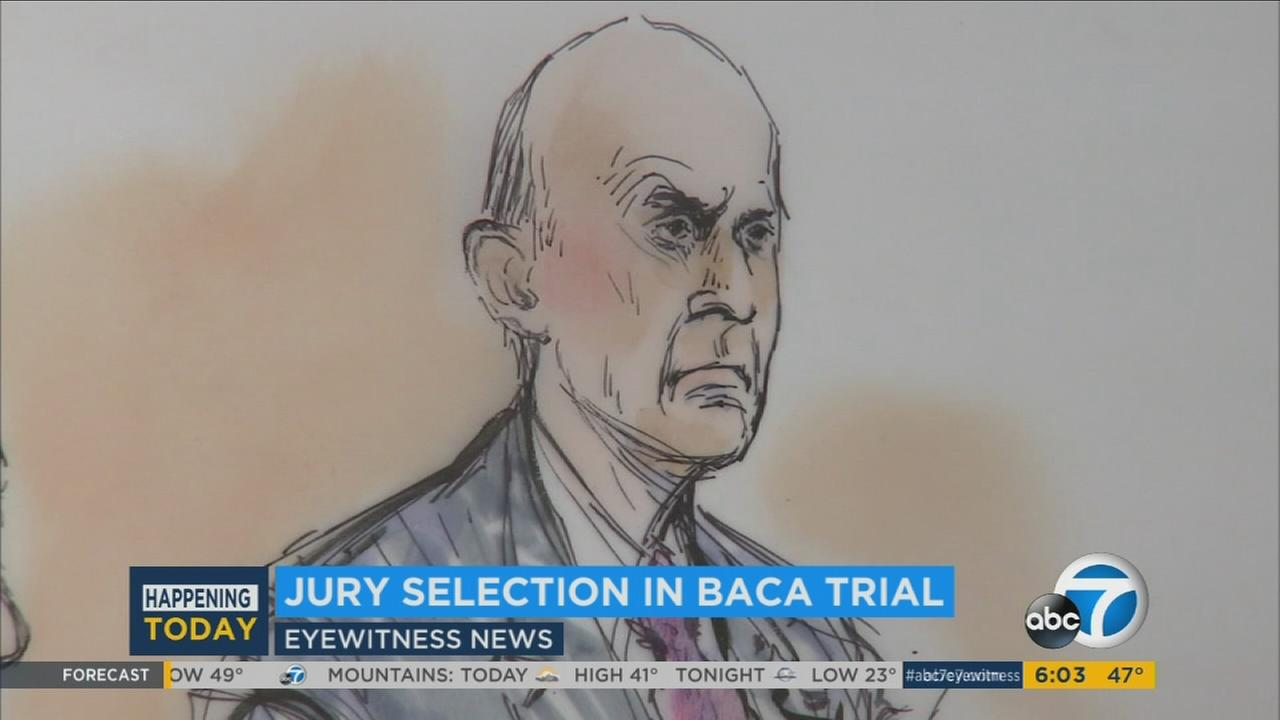 Jury selection in the trial of former Los Angeles County Sheriff Lee Baca got underway in a downtown Los Angeles courtroom on Monday, Dec. 5, 2016.