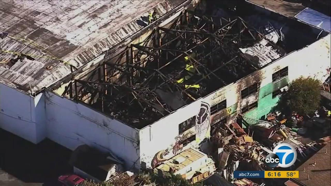 Officials have identified 33 of the dead in the fire that killed at least 36 in an Oakland warehouse during a late-night dance party.