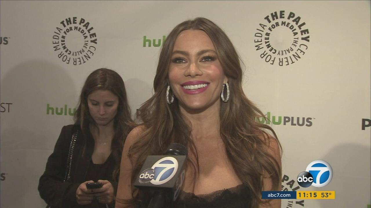 Actress Sofia Vergara is shown during an interview.