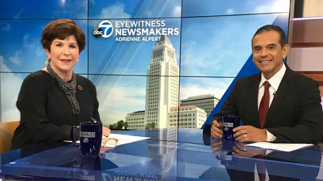 Former Los Angeles mayor Antonio Villaraigosa sits with Eyewitness Newsmakers Adrienne Alpert to talk about his run for California governor in 2018.