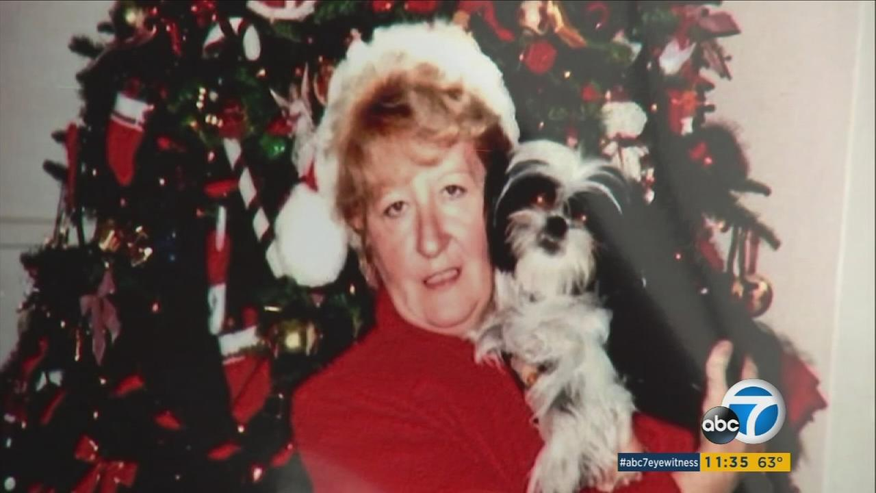 During a news conference on Thursday, Dec. 15, 2016, loved ones held copies of this photo of 70-year-old hit-and-run victim Gabriela Futsi.